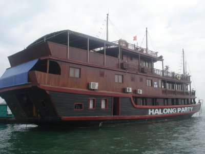 Ha Long Party Boat--our home for 2 nights