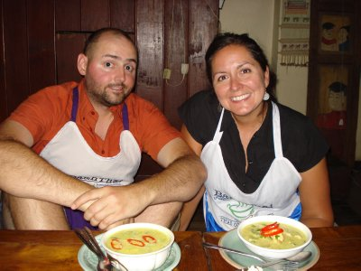 Proud Chefs with Green Curry