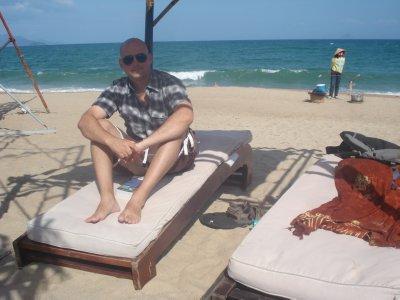 Robert with the South China Sea in Nha Trang