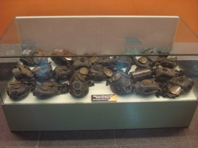 Gas masks used by U.S. Soliders, War Remnance Museum, Ho Chi Minh City, Vietnam