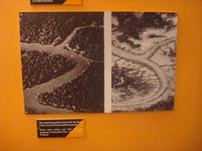 Results of Agent Orange on vegetation, War Remnance Museum, Ho Chi City, Vietnam