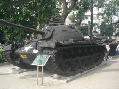 One of several U.S. Military machines outside of the War Remnants Museum, HCMC, Vietnam