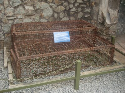 Cages used by South Vietnam to house POWs from North Vietnam--usually 3-4 people per cage
