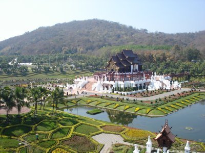 The Royal Pavillion - International Horticultural Exposition - view from top of the Ferris Wheel