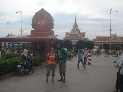 Jennifer and Simi on the cusp of Cambodia