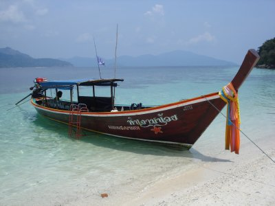 Our mode of transportation for snorkeling - Longtail boat, Koh Lipe