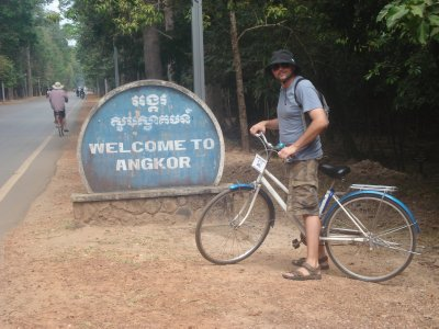 Park Entry--we biked about 30 kilometers on the 1st day!