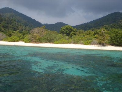 The turquoise water, reef and white sand of Koh Lipe, Thailand