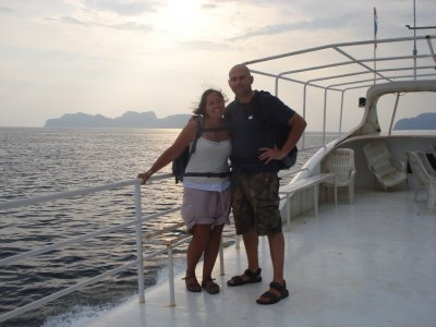 On the ferry heading to Koh Phi Phi