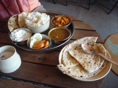 Fantastic Nepali food at Nirvana Cafe in New Delhi