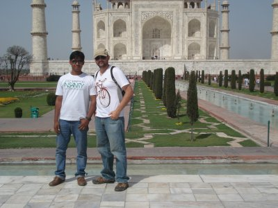 Indians love taking photos with Westerners at tourist sites