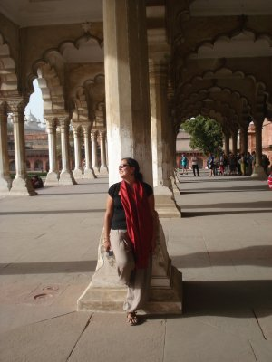 Pillar at the Agra Fort