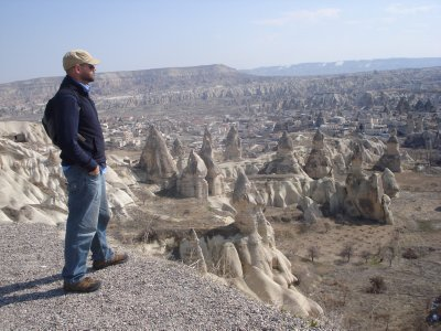 Robert at Esentepe Panoramic View Point, Cappadocia