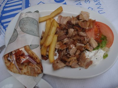 Another great Kebab at the Plaka in Athens.