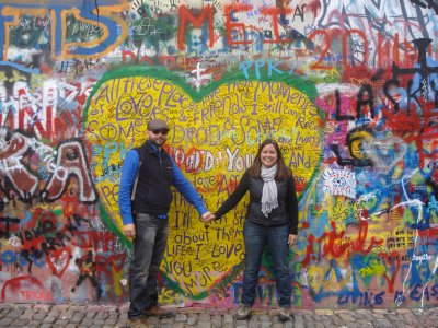 All you need is love at the John Lennon Wall in Prague