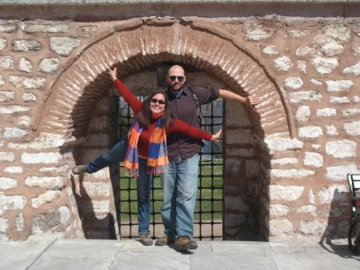 Jennifer and Robert at Topkapi Palace, Istanbul