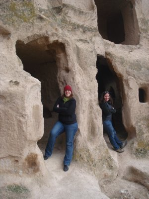 Jennifer and Kim near the Selime Monastery, Cappadocia