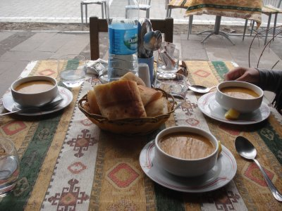 The World's Best Lentil Soup, Safak Cafe, Goreme, Cappadocia