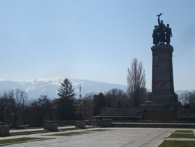 Monument to the Soviet Army in Sofia, Bulgaria.