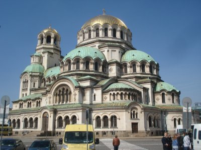 Alexander Nevski Cathedral in Sofia, Bulgaria.  It has a capacity of 10,000 people.