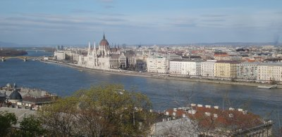 Hungarian Parliament Building on the Danube River