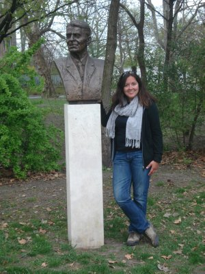 Can you guess which U.S. President we bumped into at City Park in Budapest?