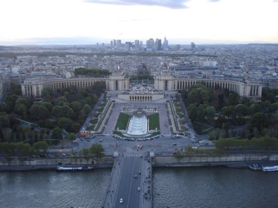 View of the Esplanade du Trocadero from the Eiffel Tower