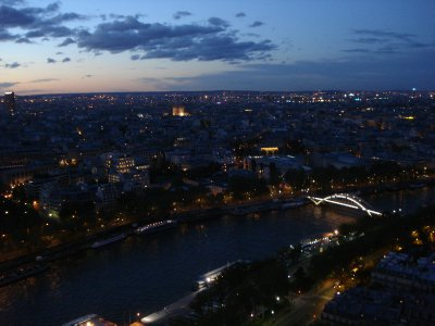 Paris at night from the Eiffel Tower.