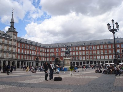 Plaza Mayor in Madrid is much more peaceful these days than it was during the Inquisition.