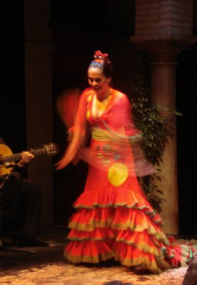 Flamenco dancer at the Museo del Flamenco, Sevilla