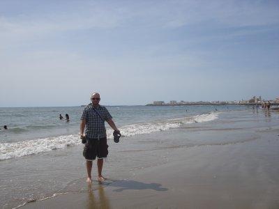 Walking along the beach in Cadiz