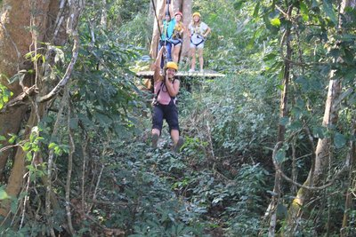 Zip-Lining through the jungle!