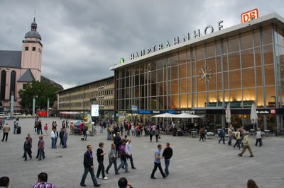 The forecourt of Cologne Station