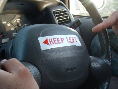 Driving in Nevis, West Indies - Keep Left