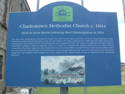 Charlestown Methodist Church c. 1844, Nevis, West Indies