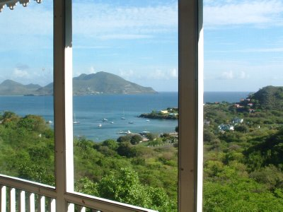 Views from Round Hill Cottage, Overlooking Oualie Bay, Nevis, West Indies (1)