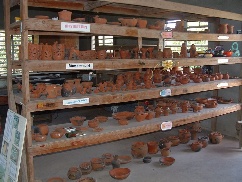 """Clay Ain't Dirt"" Newcastle Pottery, Newcastle, Nevis, West Indies"