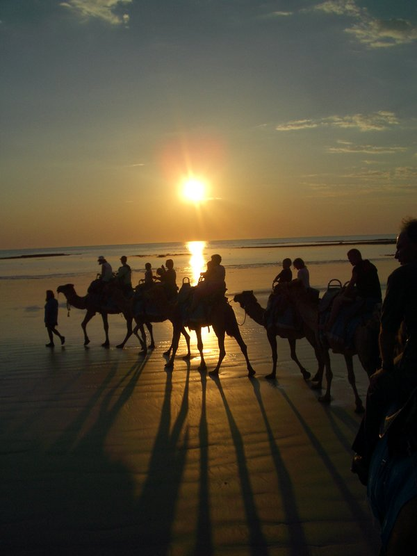 Camel ride along Cable Beach, Broome, Western Australia