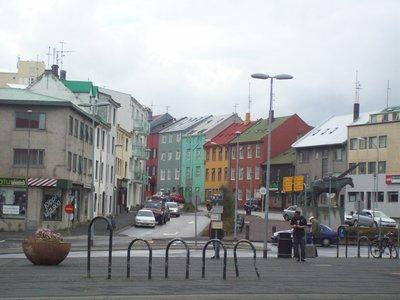 Colourful Reykjavik streets.