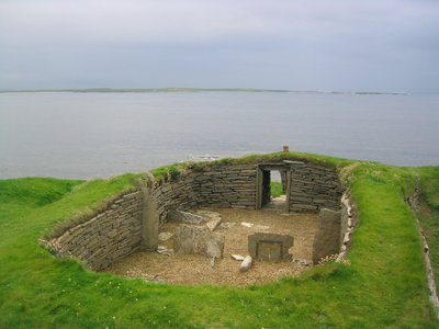 Knap of Howar Prehistoric House, Orkney Islands, Scotland