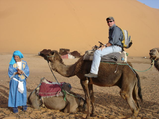 Scott on a camel!!