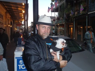 Not sure whether its a gay cowboy or whether the dog should be worried.