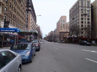 Uptown New York near Columbia University around 107th Street