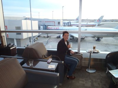 The AA Admirals Club a respite from the crowd but very basic.