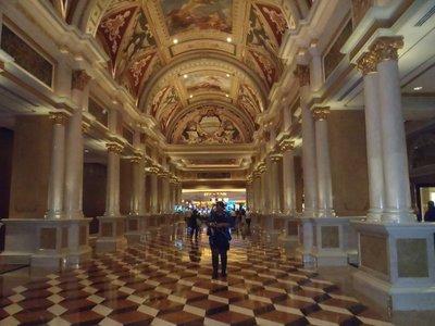 The venetian reception area
