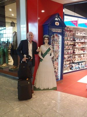 She wanted some of my apple. I'm a monarchist, so I politely declined.