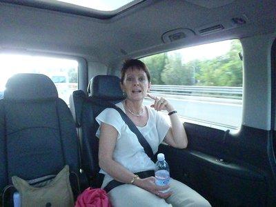 Mandy's first exposure to Italian traffic
