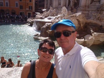 Trevi Fountain and crowds