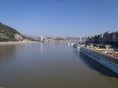 The Danube looking back toward the Intercontinential