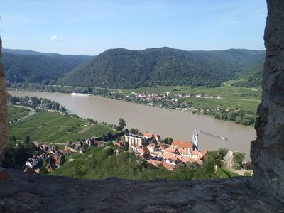 From the top looking back over the Danube